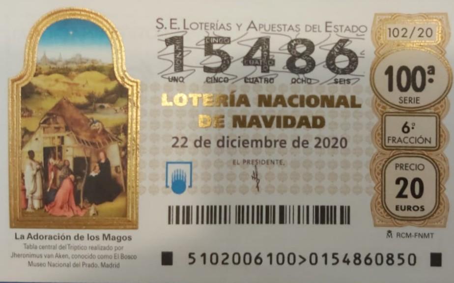 Décimo de Lotería 2020